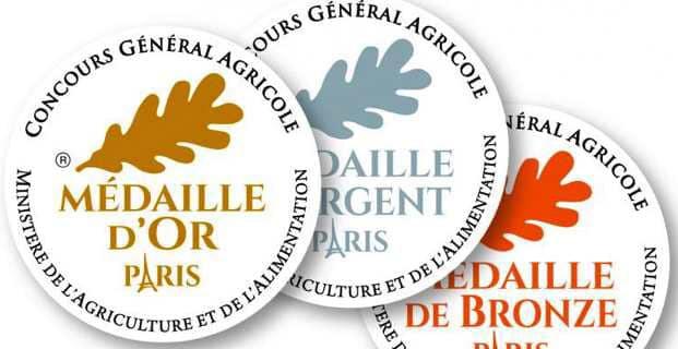 Médaille d'Argent au Concours Général agricole de Paris 2019
