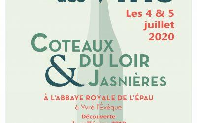 04 et 05 Juillet 2020 : Salon des Jasnières et Coteaux du Loir à l'Abbaye de l'Epau au Mans